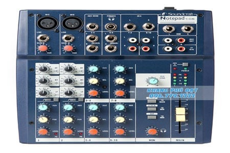 ban Mixer Soundcraft Notepad 102